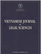 Vietnamese Journal of Legal Sciences: Two Issues per Year: Hochiminh City University of Law